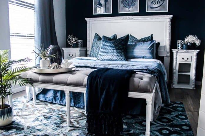 idee deco chambre bleue