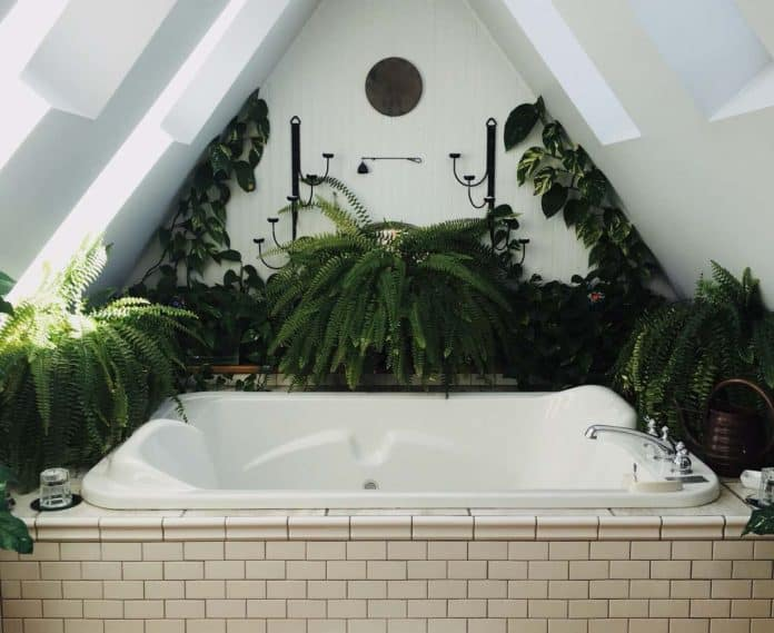 idee deco salle bain nature