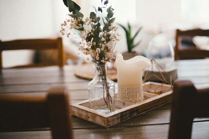 decorer salon fleur sechée